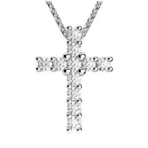 Forever Brilliant Moissanite Cross Pendant Necklace
