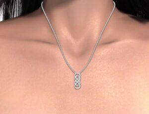 Double Infinity Diamond Pendant