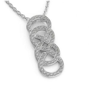 Double Infinity Diamond Pave Pendant