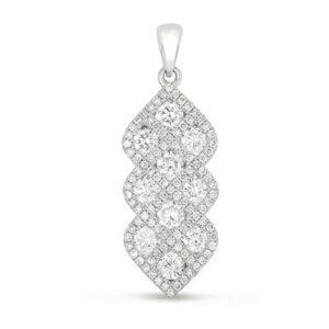 Diamond Woven Pendant Necklace