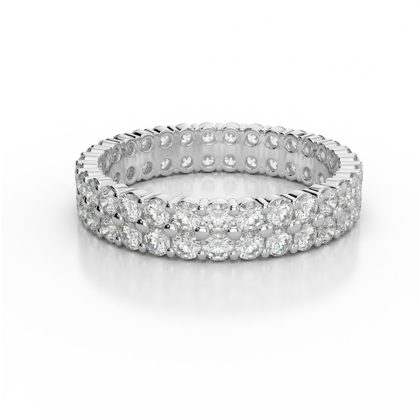 Two Row Diamond Eternity Band