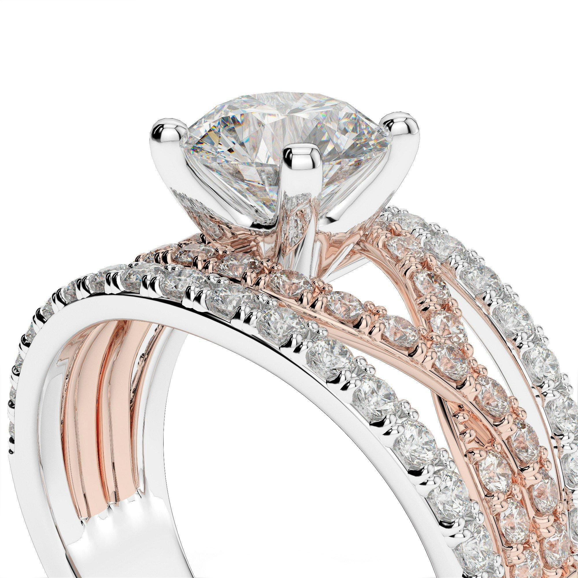 1.78 ctw Diamond Infinity 18k Two Tone Engagement Ring