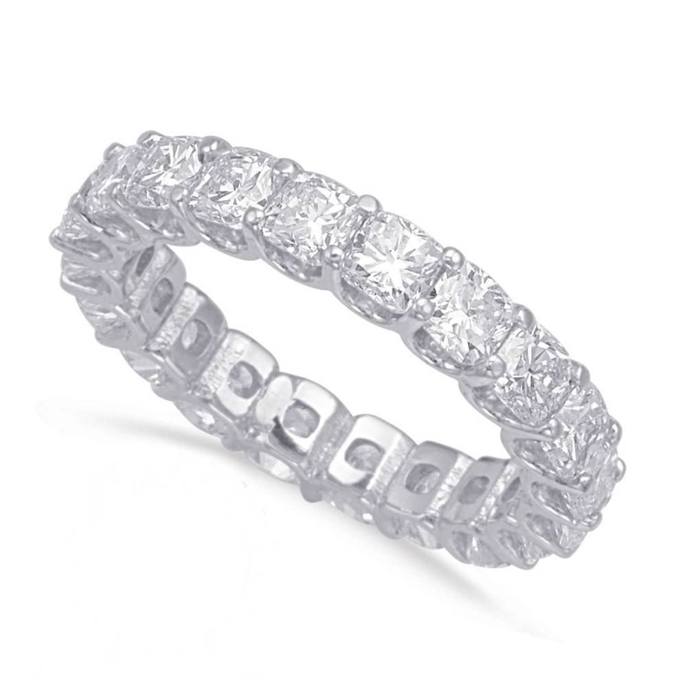 6.00 Carat Cushion-Cut Diamond Eternity Band (4mm)