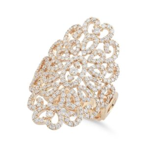 Open Pave Swirl Diamond Ring