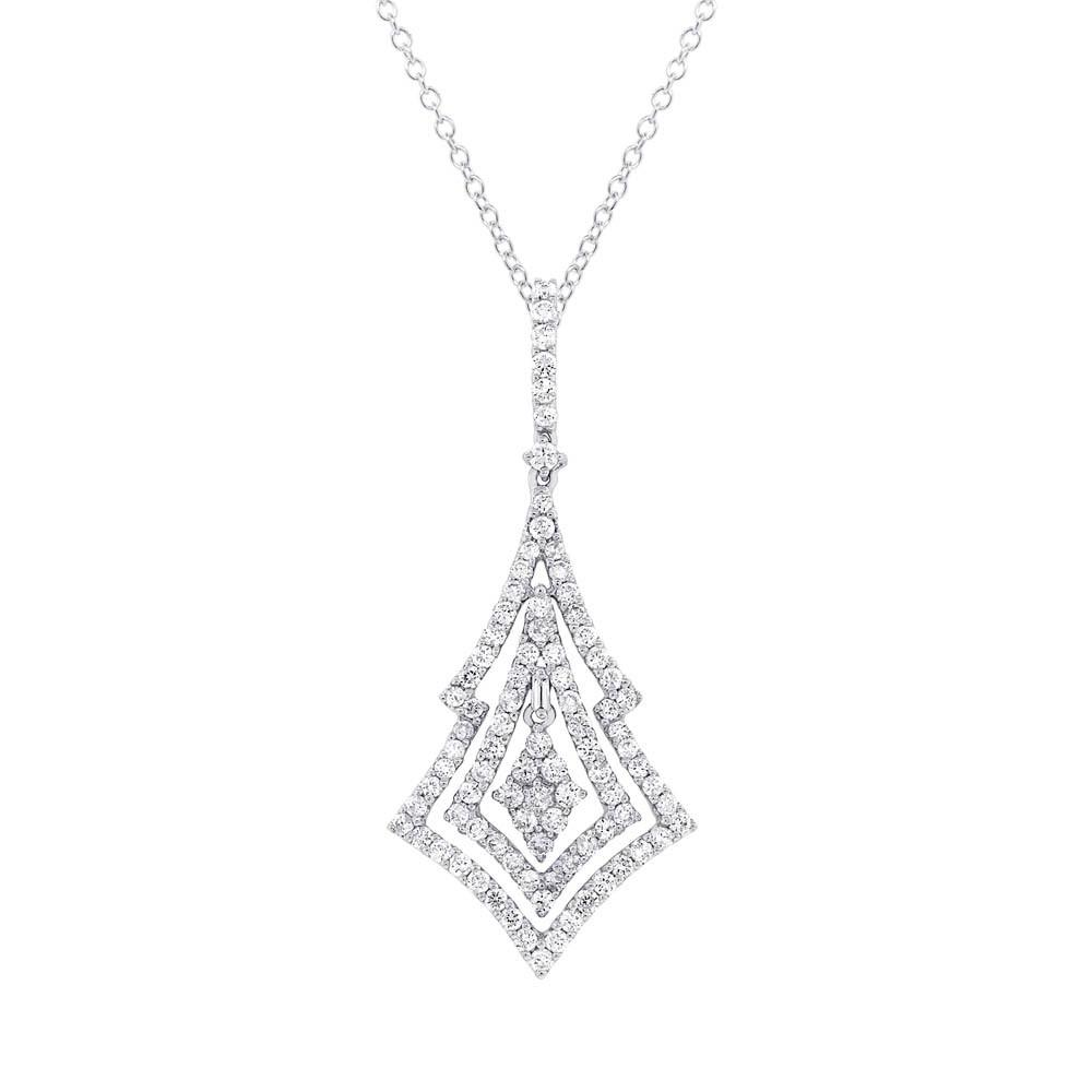 1.60 ct Diamond Necklace 18k White Gold