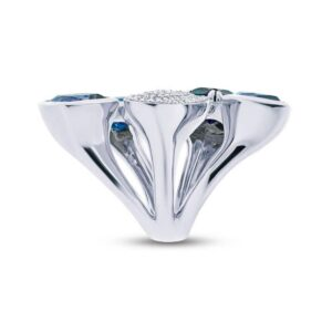 Multi-Shape London Blue Topaz & Diamond Fashion Ring
