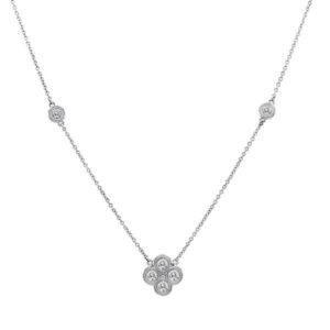 Forever Brilliant Moissanite Clover Necklace