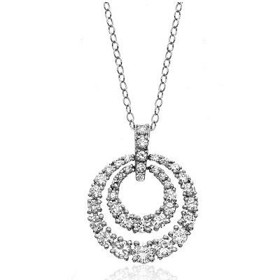 2 Carat Diamond Circle Graduating Pendant