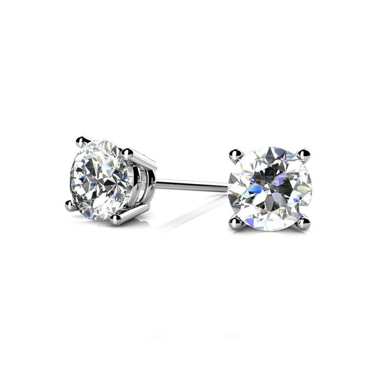 3.00 ctw Diamond Stud Platinum Earrings