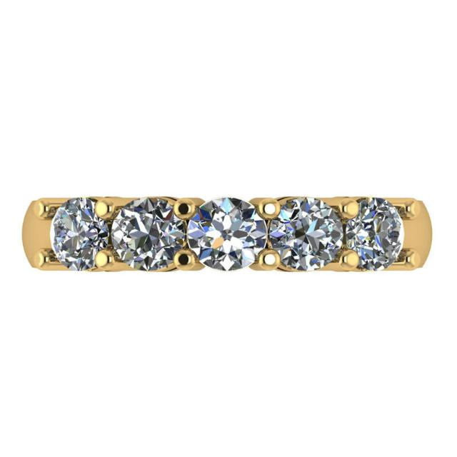 2.50 ctw Diamond Five Stone Band