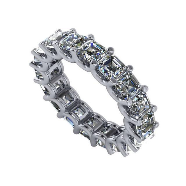 7.20 Carat Radiant Diamond Eternity Band