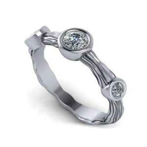 Diamond Bezel Twig Ring
