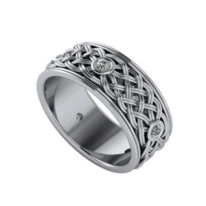Diamond Bezel Celtic Knot Eternity Band