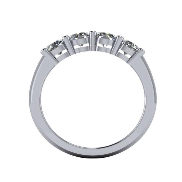 1.20 Carat Diamond Four Stone Wedding Band