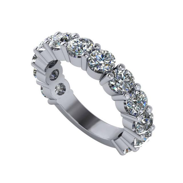 3.60 Carat Diamond Four Prong Wedding Band