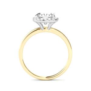3.80 Carat Antique Cushion Moissanite & Diamond Halo Solitaire Ring