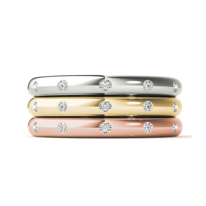 Flush Set Diamond Band (2.5mm)