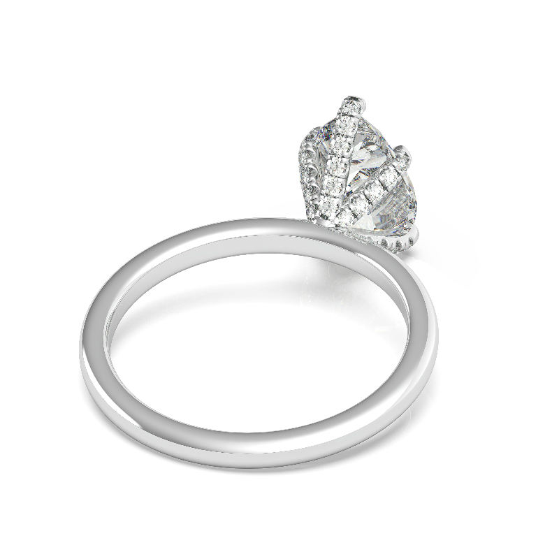 2 Carat Heart Lab Grown Diamond & Diamond Prongs Solitaire Ring