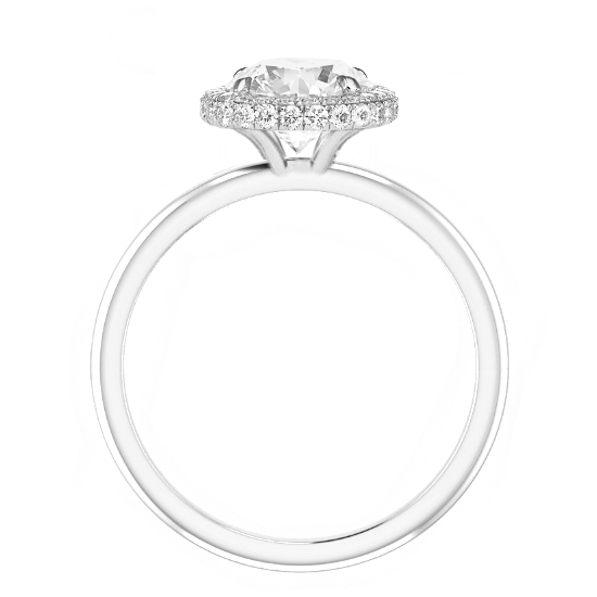 1.20 Carat Pear Diamond & Double Edge Halo Solitaire Ring