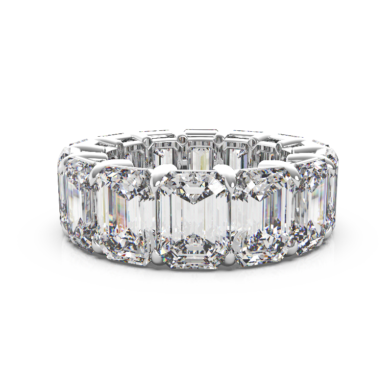 14 Carat Emerald Diamond Eternity Band