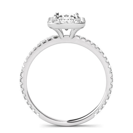 0.80 Carat Radiant Diamond & Halo Engagement Ring