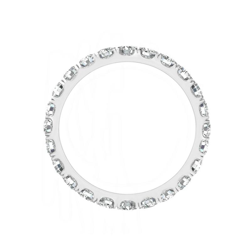 1.50 Carat Oval Diamond Three Stone Solitaire & 2.5mm Diamond Eternity Band