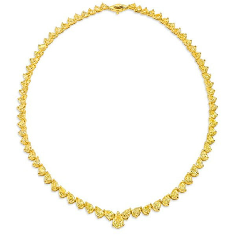 Yellow Diamond Statement Necklace