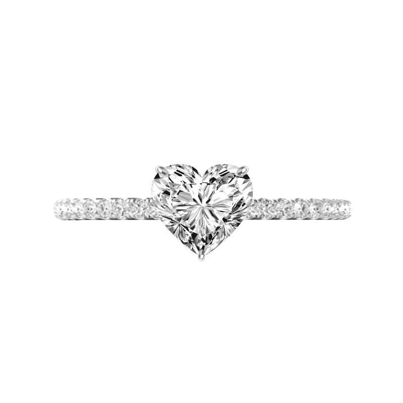 0.70 Carat Heart Diamond Pave Ring
