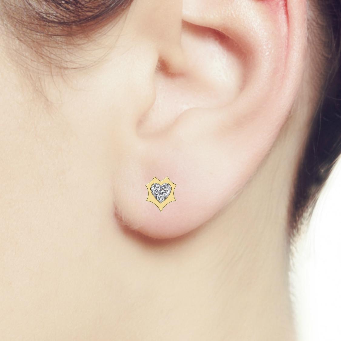 0.50 ctw Heart Diamond Enchanted Stud Earrings