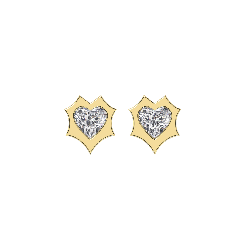 0.50 ctw Heart Diamond Enchanted Stud Earrings
