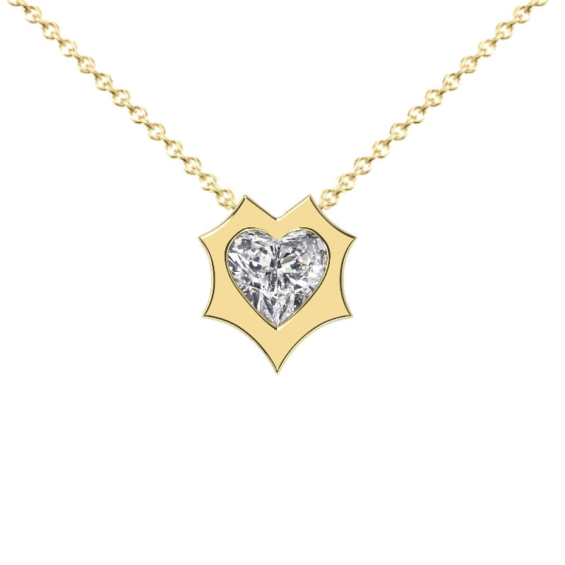 Heart Diamond Enchanted Solitaire Pendant