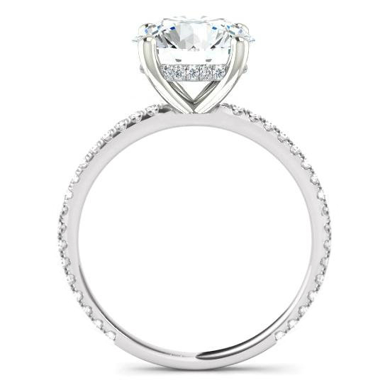 1.30 Carat Round Diamond & Hidden Halo Engagement Ring