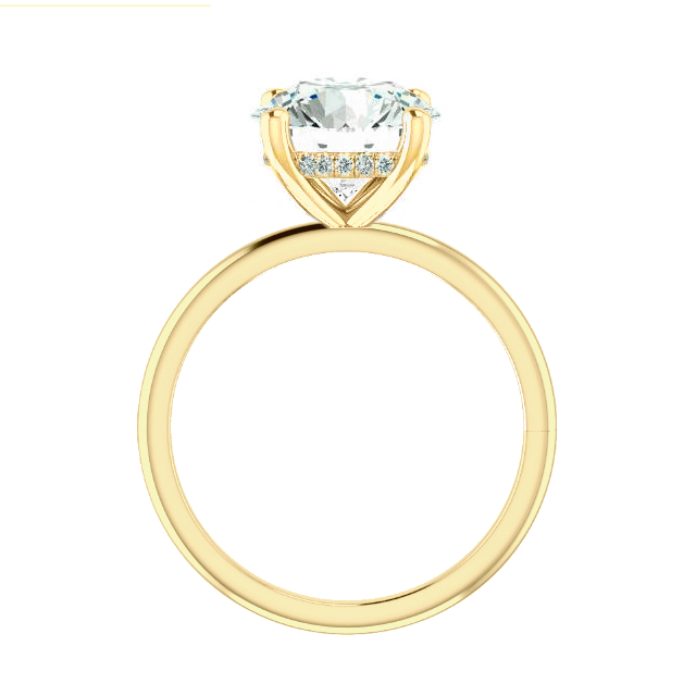 1.50 Carat Oval Diamond & Hidden Halo Solitaire