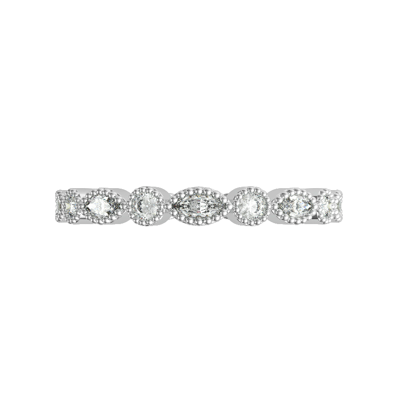 Marquise & Round Bright Cut Band
