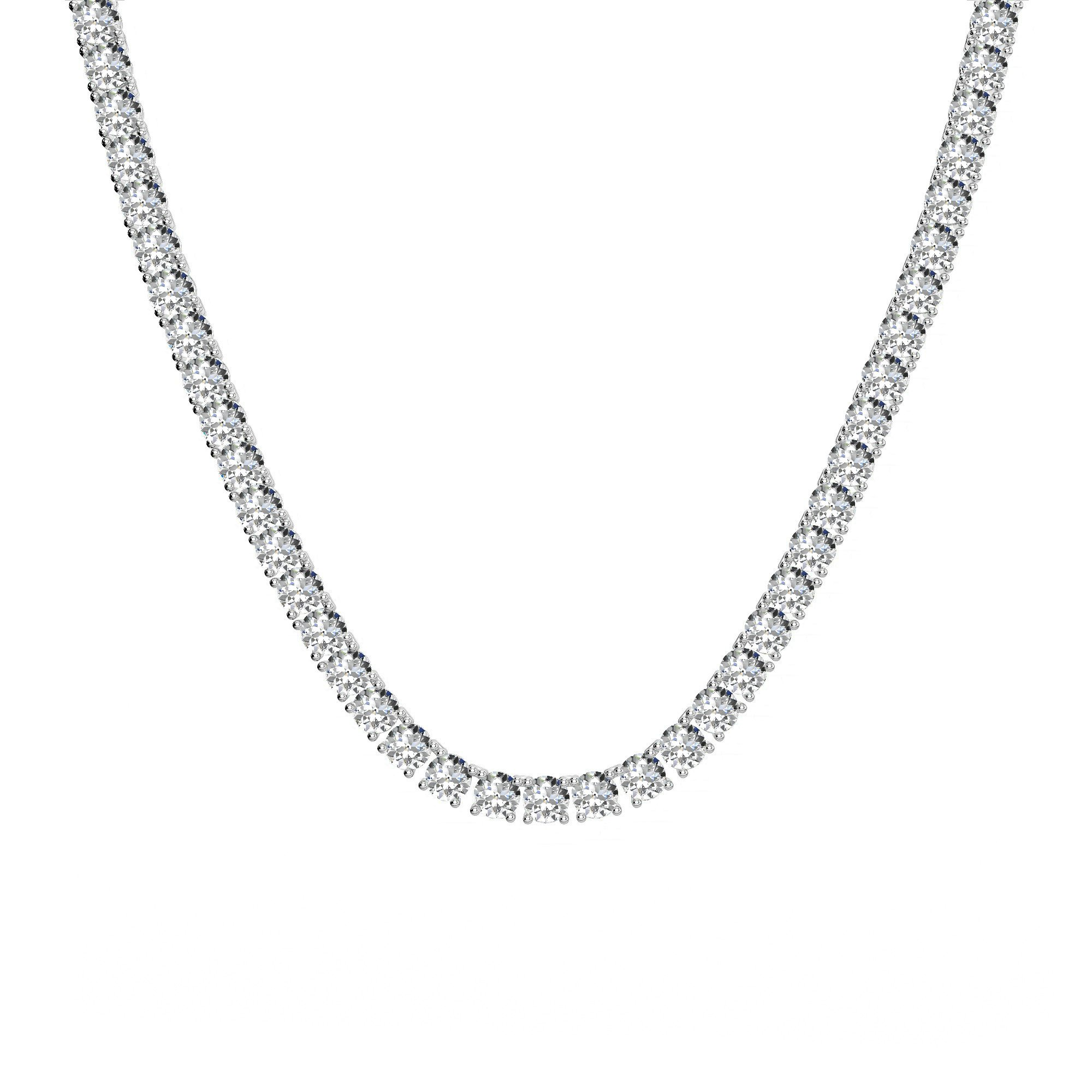 40 Carat Old European Cut Harro Moissanite Tennis Necklace