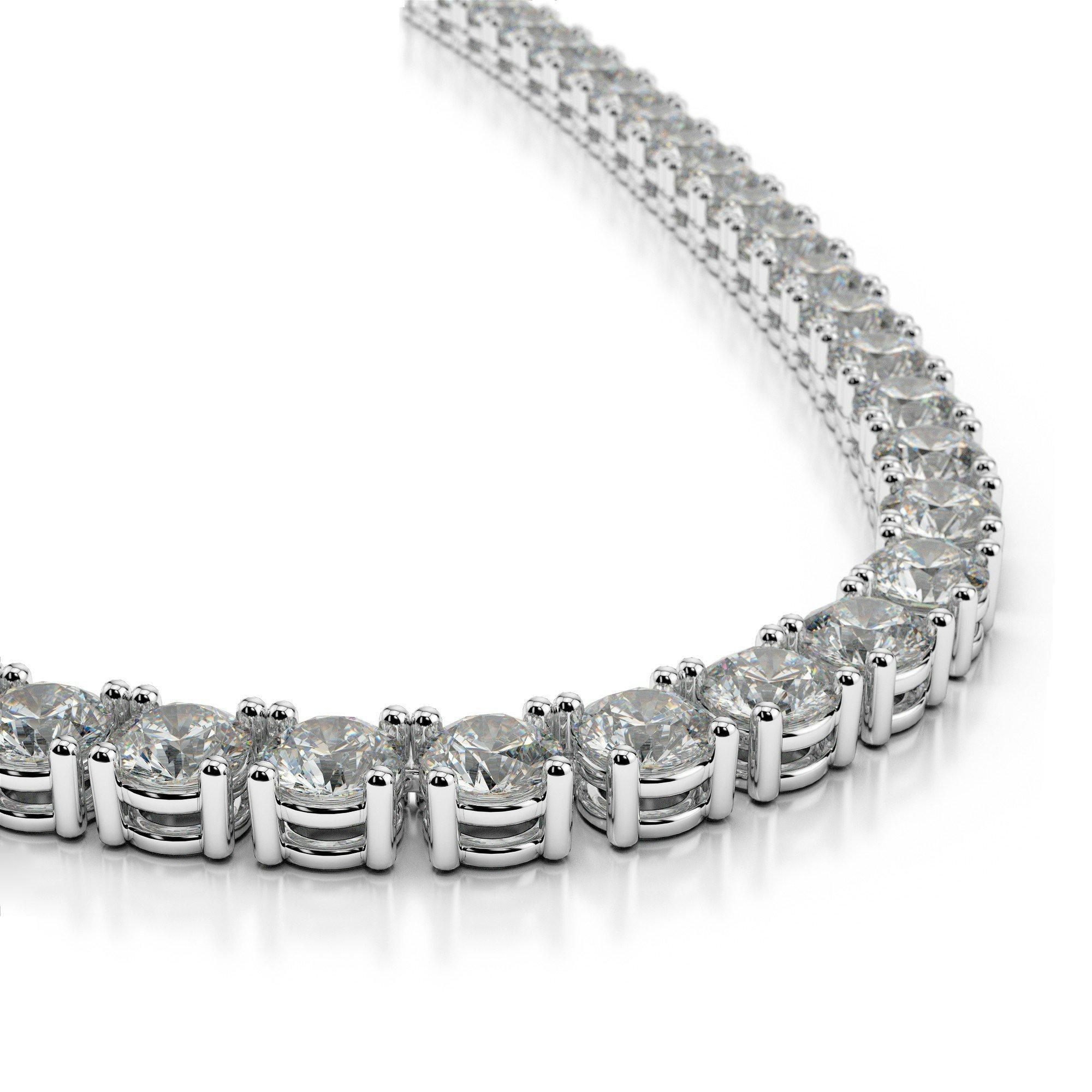 40 Carat Old European Cut Harro Moissanite Tennis Necklace