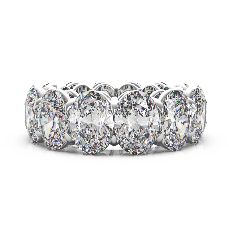 14 Carat Oval Diamond Eternity Band