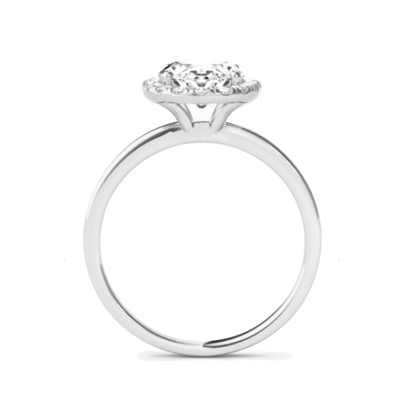 1.80 Carat Oval Diamond & Halo Solitaire Ring