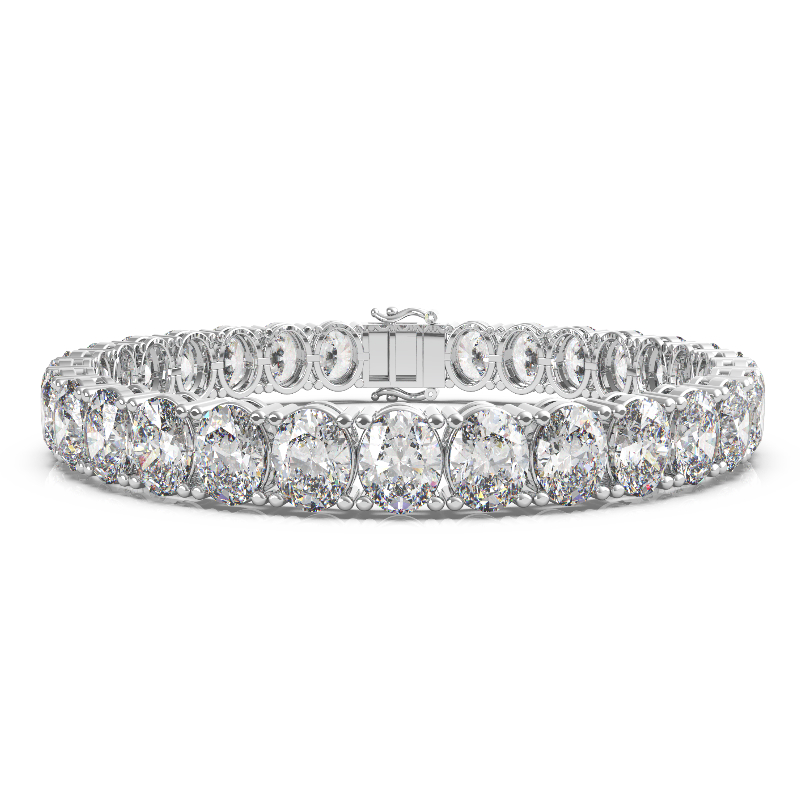 29 Carat Oval Diamond Tennis Bracelet (Copy)