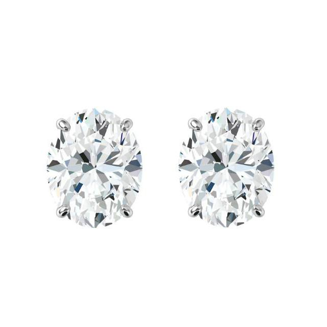 2.00 ctw Oval Diamond Stud Earrings
