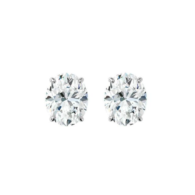 1.00 ctw Oval Diamond Stud Earrings
