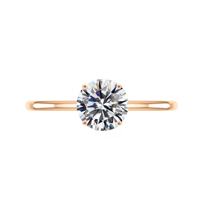 2 Carat Round Forever One Moissanite Rose Gold Solitaire