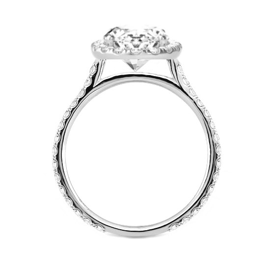 0.60 Carat Round Diamond & Halo Ring