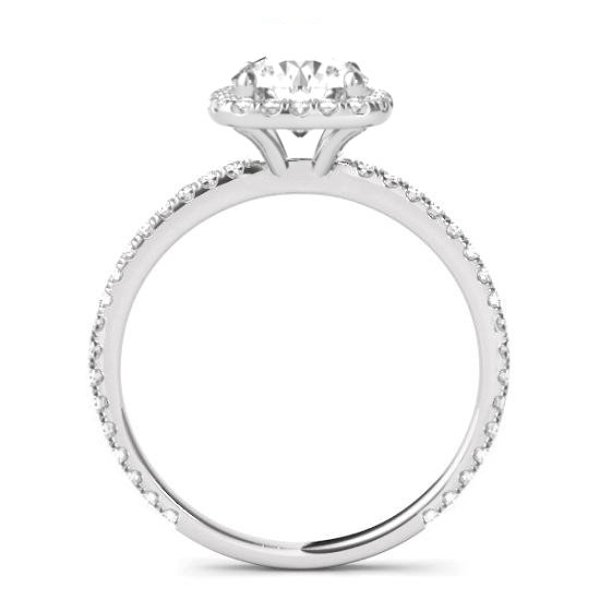 1.50 Carat Cushion Diamond & Halo Engagement Ring