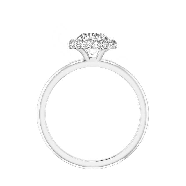 1.50 Carat Cushion Diamond & Double Edge Halo Solitaire Ring