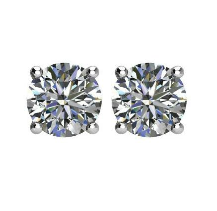4 carats tw. Diamond Stud Earrings Platinum