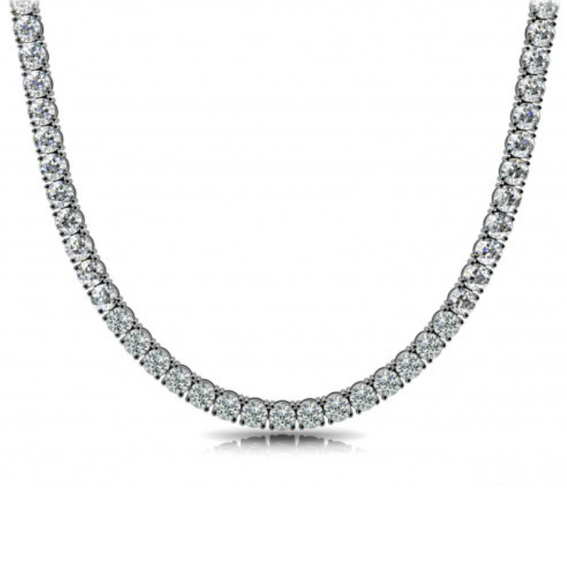 13 Carat Moissanite Tennis Necklace