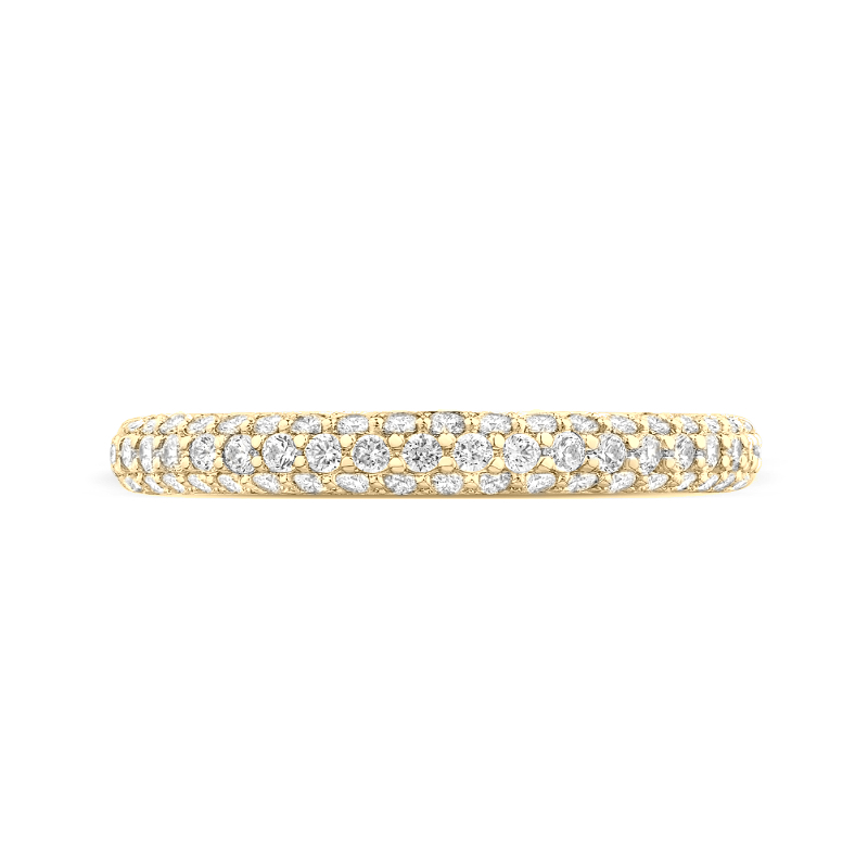 Diamond Three Row Micropave Band