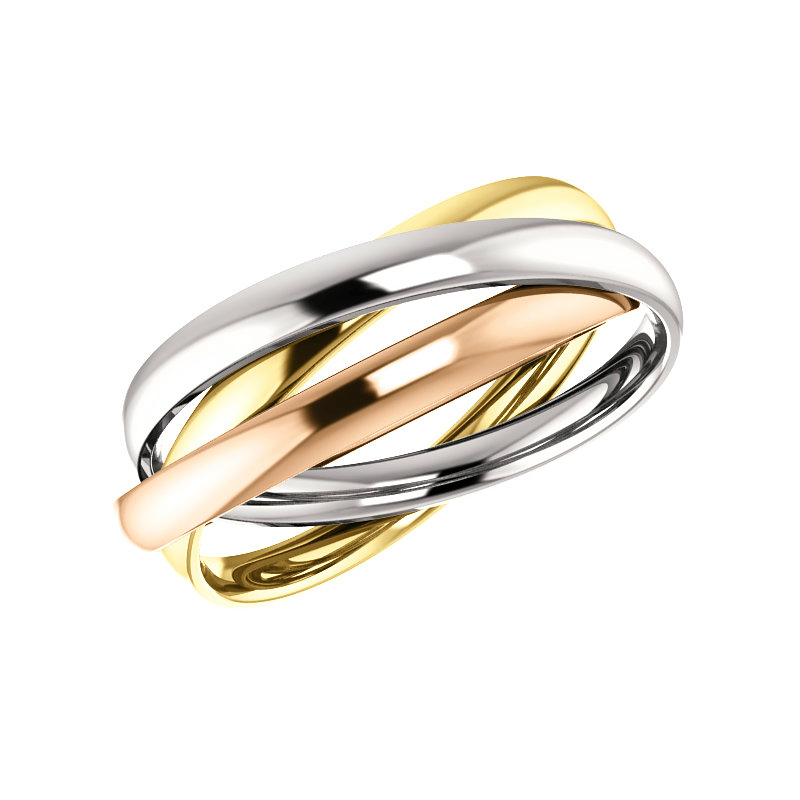 Tri Color Rolling Ring