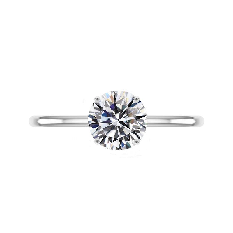 GIA 2 Carat Round Diamond Solitaire Ring